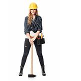 Heimwerkerin, Vorschlaghammer, Handwerkerin