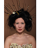 Beauty, Young Woman, Geisha, Japanese