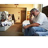 Man, Doubts & Worry, Accommodation, Homeless Shelter