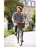 Young Man, Bicycle, Ecologically, Cyclists