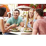 Essen & Trinken, Biergarten, Freunde