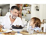 Enkel, Großvater, Essen & Trinken