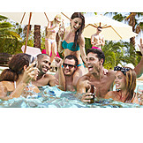 Fun & Happiness, Vacation, Swimming Pool, Friends