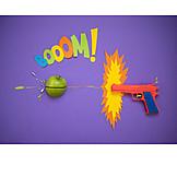 Handgun, Comic, Booom!