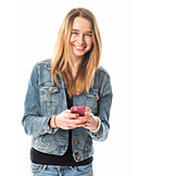 Teenager, Mobile Phones, Chatting