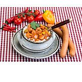 Meat Dish, Sausage Goulash