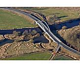 Aerial View, Road, Car Bridge
