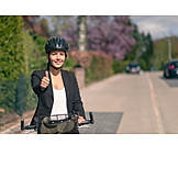 Bicycle, Ecologically, Thumbs Up, Commuter