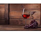 Weinglas, Rotwein
