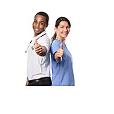 Doctor, Nurse, Thumbs Up, Caregiver