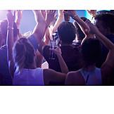 Nachtleben, Konzert, Publikum, Diskothek