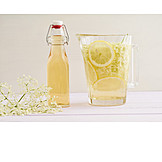 Refreshment, Beverage, Carafe, Elderflowers, Home Made