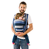 Toddler, Father, Security & Protection, Baby Sling