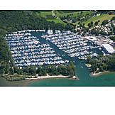 Luftaufnahme, Yachthafen, Langenargen