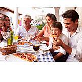 Gastronomie, Essen & Trinken, Familie, Pizzeria, Sommerurlaub