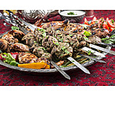 Oriental Cuisine, Poultry, Kebab, Lamb