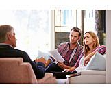 Precautionary, Advice, Couple, Financial Advisor
