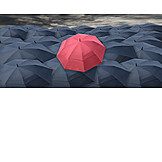 Individuality & Uniqueness, Umbrella, Rain Weather