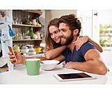 Paar, Mobile Kommunikation, Smartphone