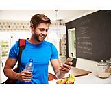 Mobile communication, Sportsman, Smart phone