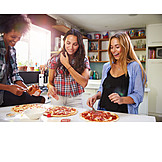 Cooking, Friends, Pizza