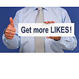 Gesture, Thumbs up, Social media, To like