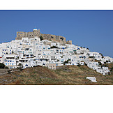 Greece, Chora, Fortress ruin