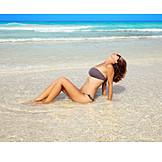 Young Woman, Beach, Vacation, Bikini