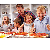 Child, Father, Cooking, Baking