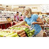 Woman, Shopping, Fruit