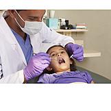 Mädchen, Untersuchung, Zahnarzt, Patientin