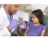Kind, Zahnarzt, Erklären, Zähne Putzen