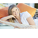 Woman, Smiling, Relaxation & Recreation, Relaxed