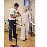 Patientin, Physiotherapie