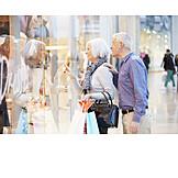 Senior, Paar, Einkauf & Shopping, Schaufenster