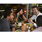 Nightlife, Eating, Restaurant, Friends