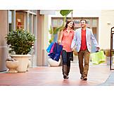 Paar, Einkauf & Shopping, Einkaufsbummel, Shoppen