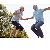 Senior, Senior, Vitality, Bouncing, Older Couple