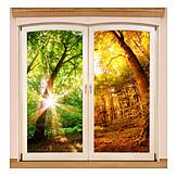 Sommer, Herbst, Jahreszeiten, Wetterwechsel