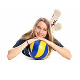 Teenager, Girl, Teenager, Volleyball
