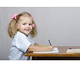 Child, Girl, Writing, Learning