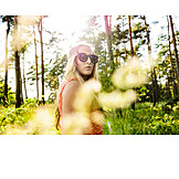 Young woman, Nature, Forest, Walk
