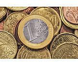 Money, Euro, Change, 1 Euro