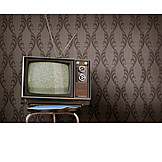 Watching Tv, Retro, Television, Reception