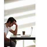 Young Man, Work, Frustration, Stress & Struggle