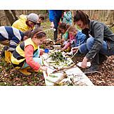 Kindergruppe, Bildung, Naturbestimmung
