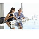 Besprechung & Unterhaltung, Meeting, Geschäftsleute