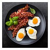 Frühstück, Spiegelei, Schinkenspeck, Amerikanische Küche