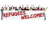 Greeting, Welcome, Refugee, Hospitality