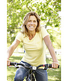 Woman, Cycling, Cyclist